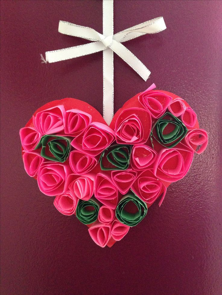 Valentines day craft crafts for valentines day for Colour paper craft