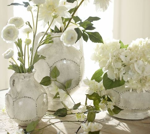 wish list: Floral Delight, White Vase, White Flower, Faux White, White Rooms, Dahlias Stems, Flower Power, Pottery Barns, Pretty Pictures