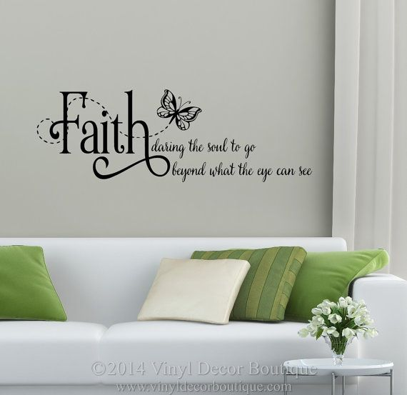 Faith daring the soul to go beyond what the eye can see wall decal wall quote vinyl lettering vinyl wall quote wall saying quote Faith  sc 1 st  Pinterest & 15 best Christian Wall Decals images on Pinterest | Christian wall ...