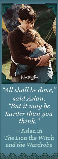 Wise words from Aslan for 2015!