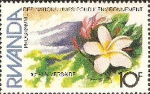 Sello: Flowers (Ruanda) (10th anniversary of UN Conference on Human Environment) Mi:RW 1201,Sn:RW 1117,Yt:RW 1076,Bel:RW 1136