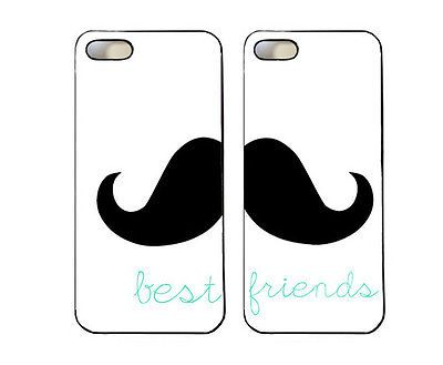 Mustache Best Friends phone cases for iphone 4/4s, iphone 5, SG3, & SG4