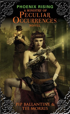 Phoenix Rising, by Pip Ballantine & Tee Morris. Fiction, Mystery, Steampunk. Agent Eliza D. Braun, of the Ministry of Peculiar Occurrences, teams with an unlikely partner, archivist Wellington Books in an effort to investigate the series of bizarre murders occurring in London, thereby embroiling themselves in deeper and more sinister treachery than they realize.