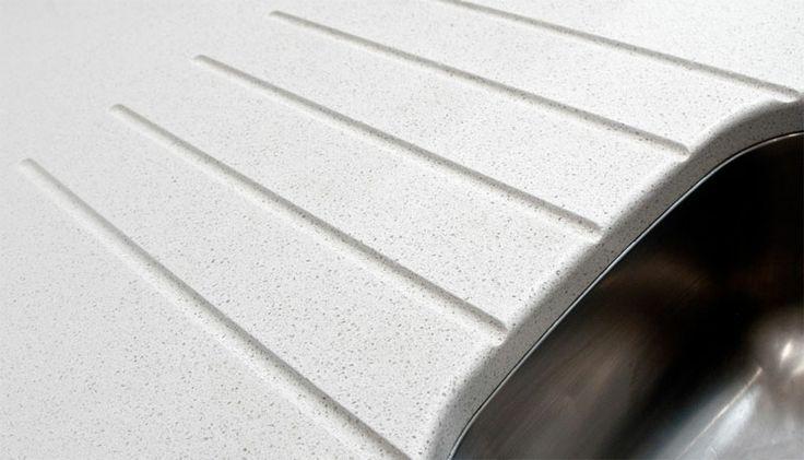 draining grooves in caesarstone benchtop!