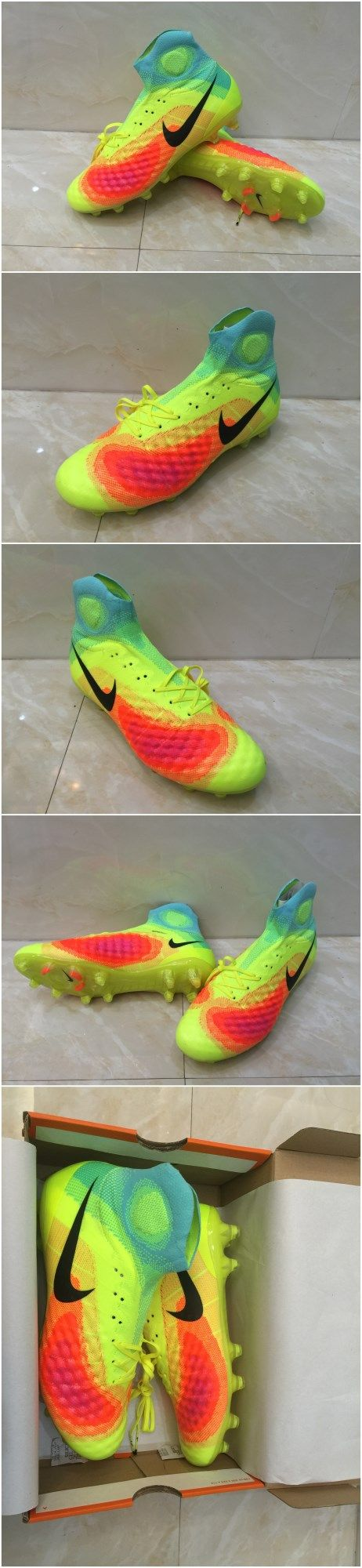 Free shipping fee , 2016 Top football boots , Nike Magista Obra II FG -  VoltBlackTotal
