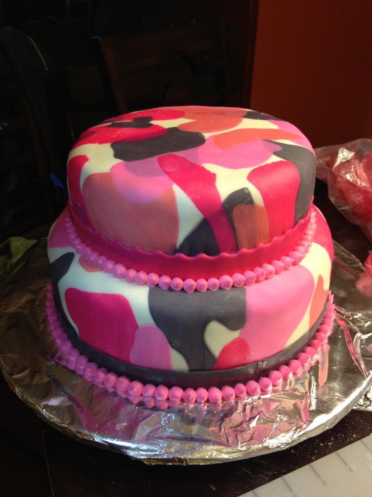 Pink Camo Cake More Pink Camo Cakes Camo Bday Cakes Baby Cake .