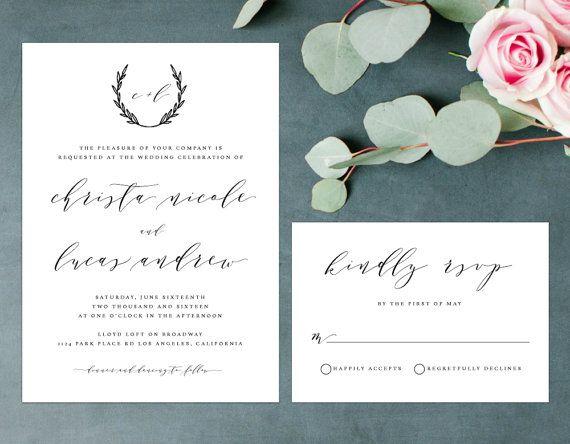 17 best ideas about handwritten wedding invitations on pinterest, Wedding invitations