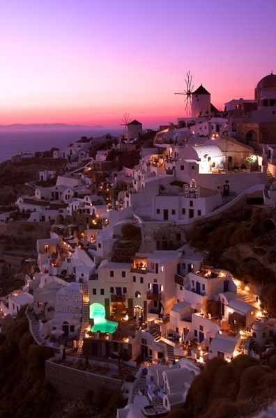 Picturesque Oia, Santorini, at sunset, in the Greek Islands - Greek Islands Workshop - Ollie Taylor Photography