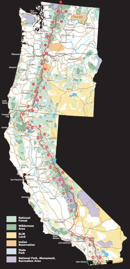 Pacific Crest Trail - Wikipedia, the free encyclopedia