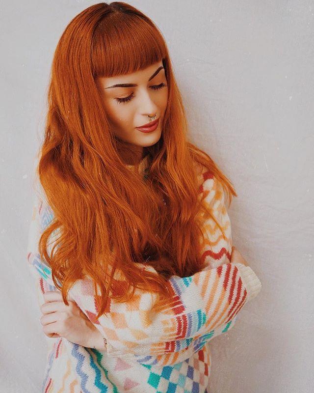 Sunset Orange Ginger Hair Color Fox Hair Dye Long Hair Styles