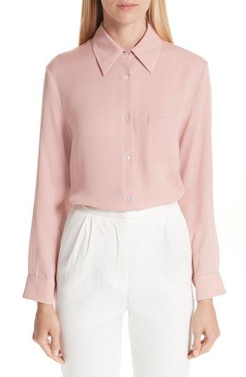 0d7c37f3f1fc1b Chic MANSUR GAVRIEL Button Up Silk Blouse Women Fashion Clothing.   395   newfashionclo from top store