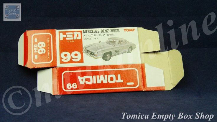 TOMICA 099C MERCEDES BENZ 300SL | 1/63 | ORIGINAL BOX ONLY | 1988 -1992 JAPAN (A