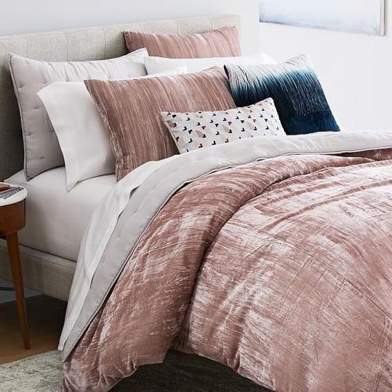3 Pc Crushed Velvet Duvet Cover Boho Bedding Uo Comforter Etsy In 2021 Velvet Bed Velvet Duvet Velvet Bedding Sets