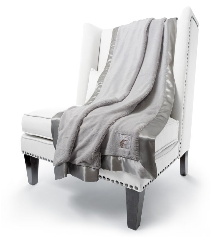 Little Giraffe - Giraffe at Home Luxe Throw Adult Blanket - Silver FREE Shipping CANADA at ROCKPRETTY.ca