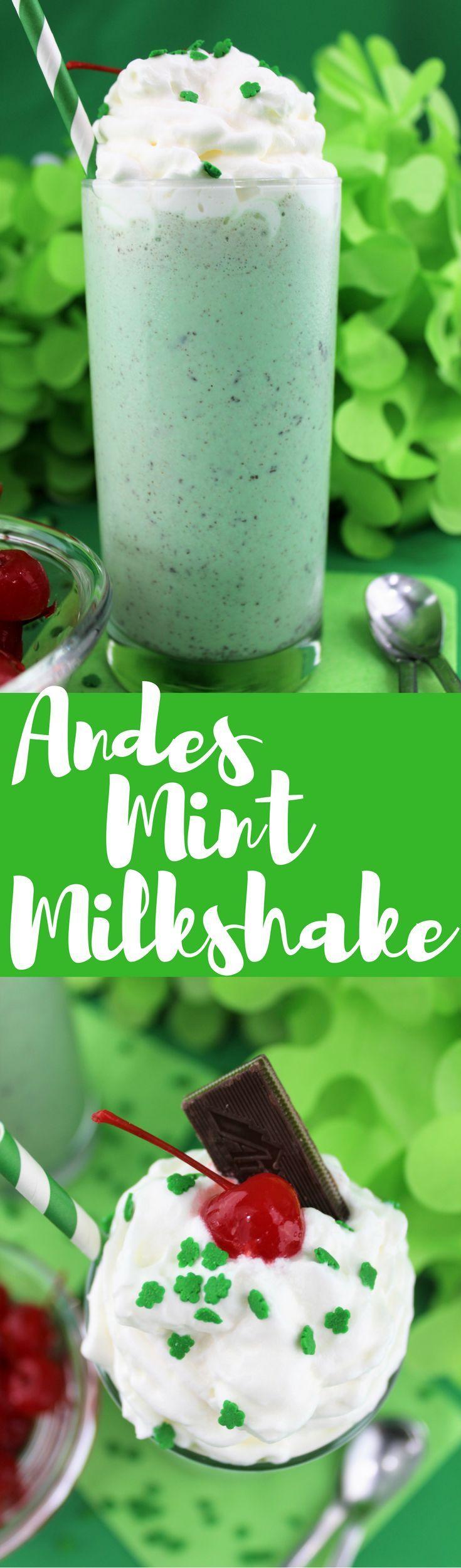 Andes Mint Milkshake | St Patrick's Day | Milkshake | Mint | Holiday | Dessert