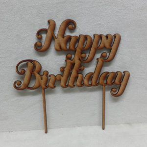 Imagine If Creative Studios - MDF Cake Topper - Happy Birthday