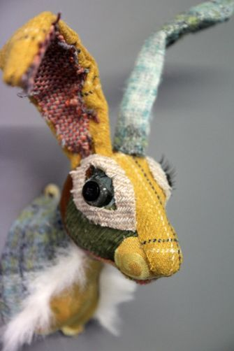Patchwork Hare Head  I need to find a way to create something like this!