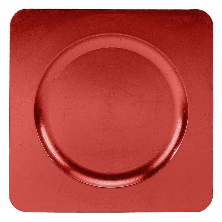 Tabletop Classics TRR-6660 Red 12 1/4\  Square Acrylic Charger Plate & 92 best Chargers images on Pinterest | Table decorations Dishes and ...