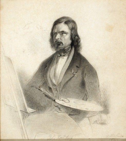 Barend Cornelis Koekkoek - kunstschilder  (door Willem Steelink 1844)