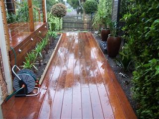 cool idea for two level decking