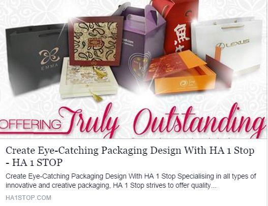 Specialising in all types of innovative and creative packaging, ‪#‎HA1Stop‬ strives to offer ‪#‎quality‬ workmanship, ‪#‎reliable‬ service and unsurpassed support to their valued customers. http://www.ha1stop.com/426/