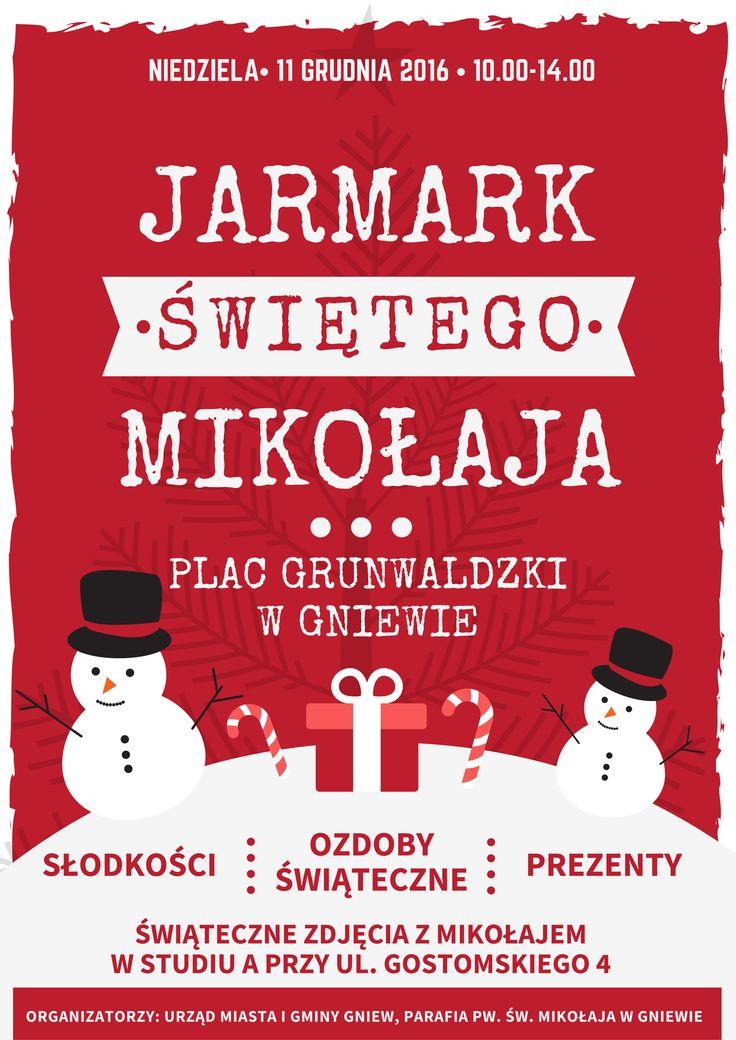Jarmark Świętego Mikołaja w Gniewie (11 grudnia 2016)  #gniew #opanujgniew #święta #mikołaj #jarmark #słodkości #ozdoby #prezenty #zdjęcia #