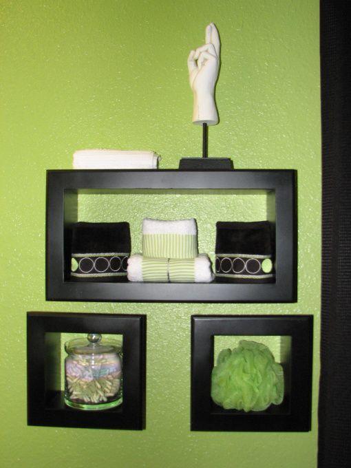 fun teen lime green bathroom, Fun colorful bathroom for my teen. Lime green  black