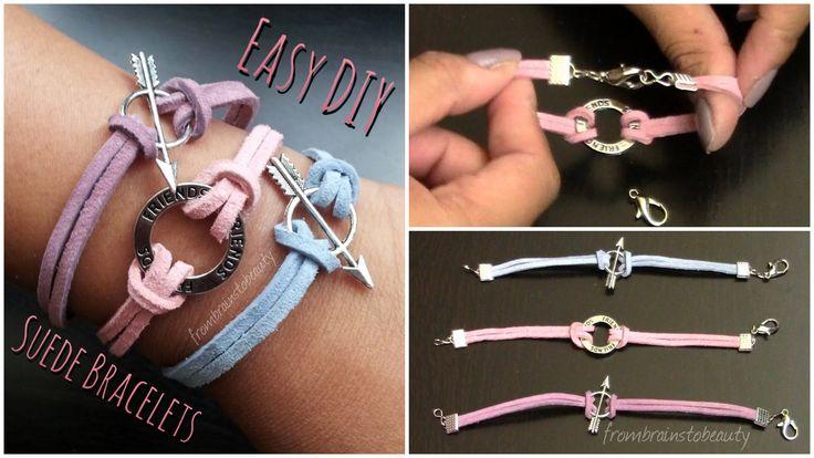 Easy DIY Suede Bracelet - Back to School Tutorial | FromBrainsToBeauty