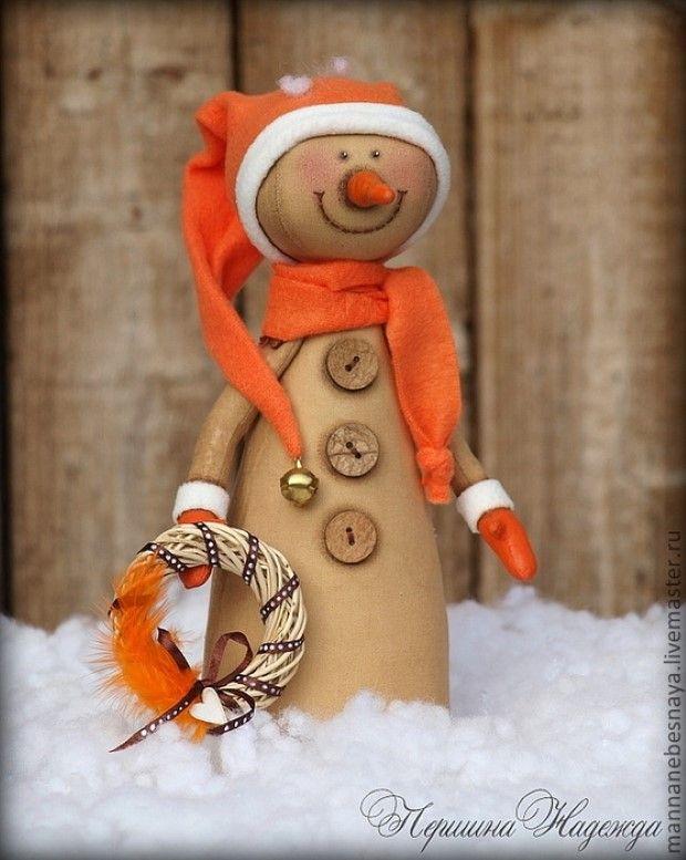 kreativny napad a navod kreativita.info handmade rucne sity snehuliaci 9