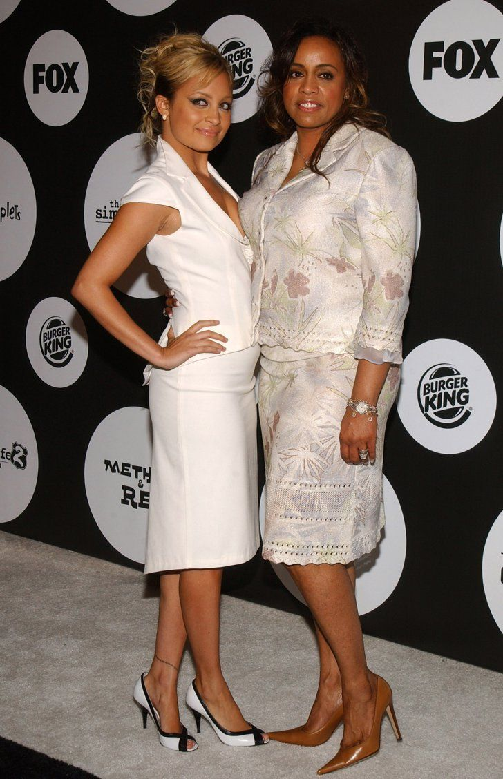You Won't Believe How Much Nicole Richie Has Changed Since 2001  Nicole went for a mature suited-up look while attending a Fox event with her mum, Brenda, in June 2004.