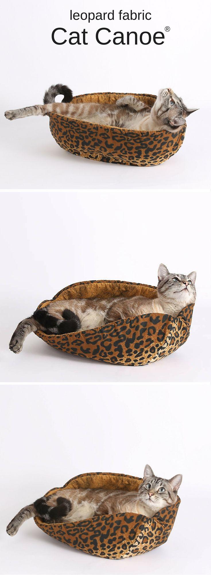 the  best modern cat beds ideas on pinterest  modern cat  - the cat canoe a modern kitty bed made in leopard fabric