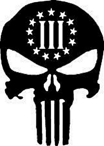 Punisher Three Percenter Molon Labe III 3 Percent Stars Oath Keeper tshirt
