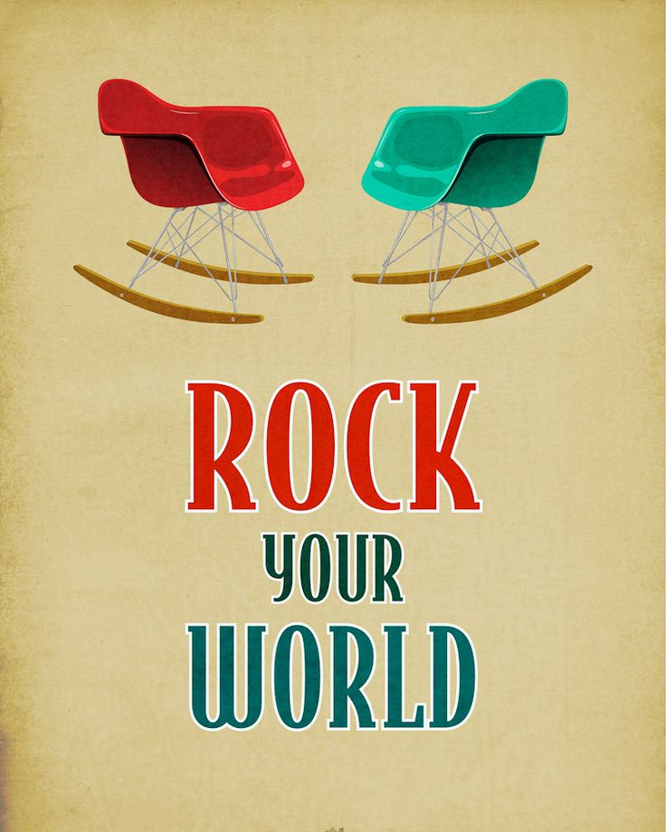 Eames Rocking Chair Print Retro Home Decor Poster by PosterLocker
