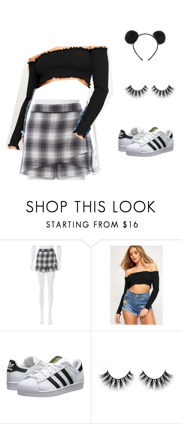 """""""madison beer inspo outfit - night out"""" by jeana-becton on Polyvore featuring Robert Rodriguez, WearAll, adidas Originals, Forever 21, cute and NightOut"""