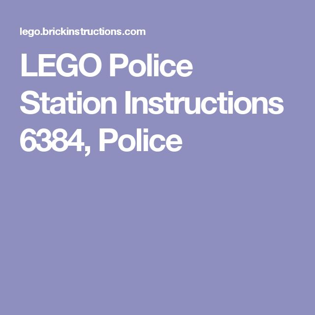 LEGO Police Station Instructions 6384, Police