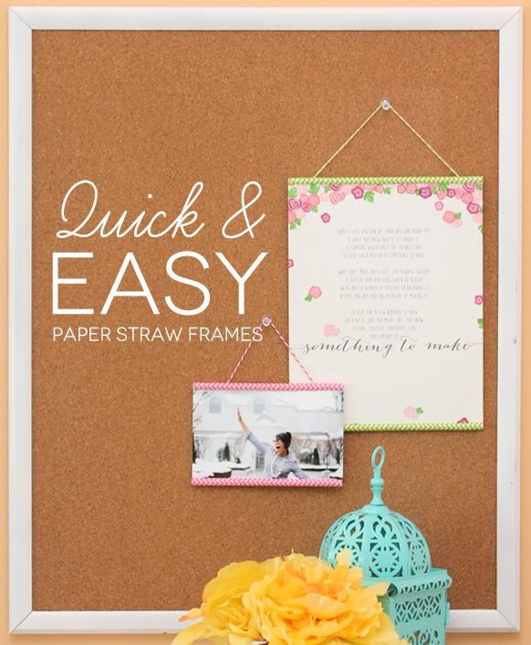 DIY Chevron Paper Straw Frames from Amber of Damask Love.