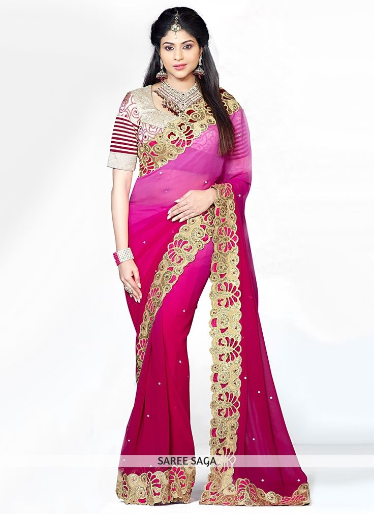 vivacious-pink-zari-and-embroidered-faux-georgette-saree.