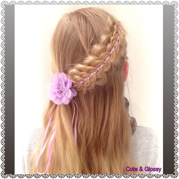 Stacked braid, beautiful hairstyle for (young) girls.