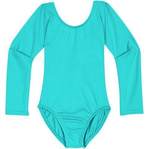 ICY TURQUOISE Long Sleeve Leotard for Toddler and Girls, Dancewear Made in USA – The Leotard Boutique