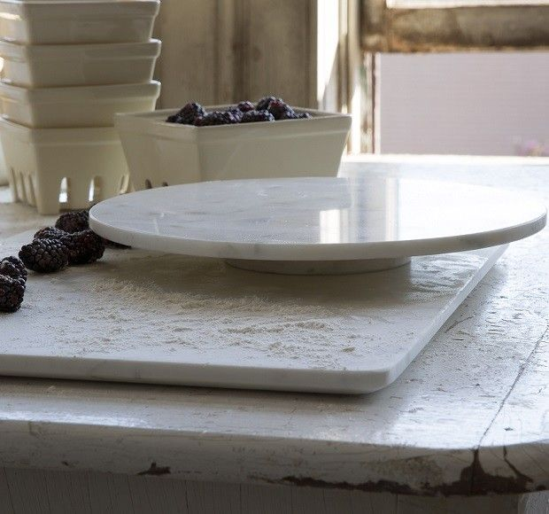 Large Marble Cheese Board - Lazy Susan