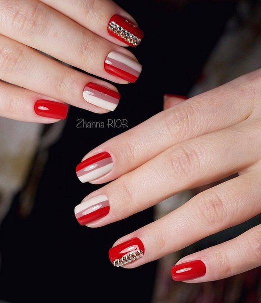 Accurate nails, Beautiful nails 2016, Beige nails 2016, Bright summer nails, Evening nails, Manicure by summer dress, Medium nails, Nails with stones