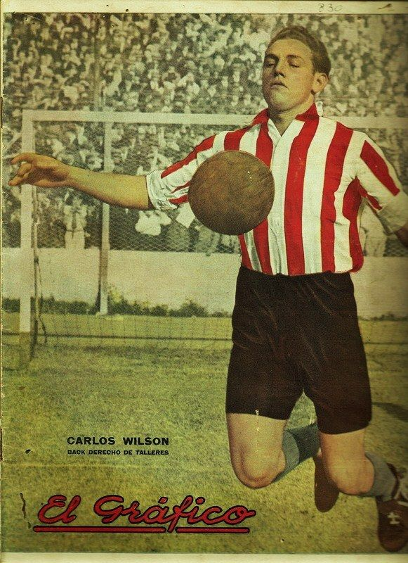 """Carlos Wilson in the jersey of Talleres on the cover of """"El Grafico"""" of 8th June 1935"""