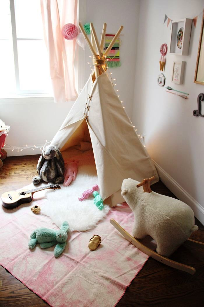 teepee made with sticks and fabric that you can decorate however you like for your kids to play and study in. Here is our collection of 20 best Teepee Reading Tent for Kids.