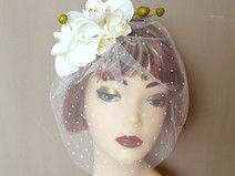 fascinator with orchids - weeding collection  BATALIS fascinators