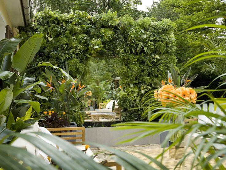 VERTISS / végétalisation d'un mur réalisée par David BITTON. Une note végétale pour créer un jardin en 3 dimensions. Mur végétal Vertiss Plus