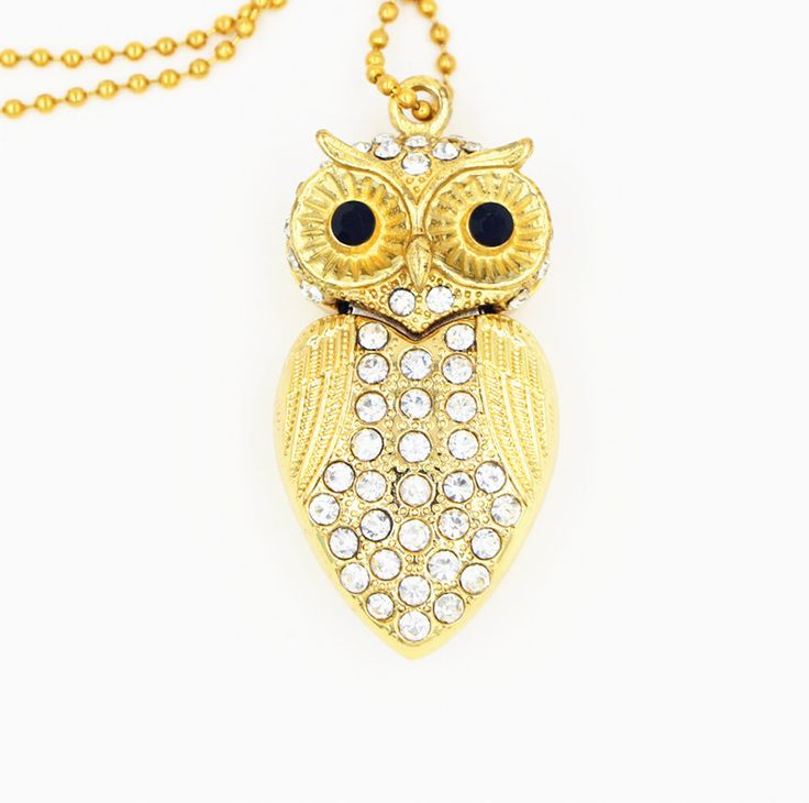 Cute Crystal Gold Colored Owl Style USB Flash Drive 8GB-32GB. Support USB version 2.0 and 1.0. No external power is required 4.5V ~ 5.5V from USB port. 1XUSB flash drive. Support Win98/ME/2000/XP/Vista/7, Mac OS 9. | eBay!