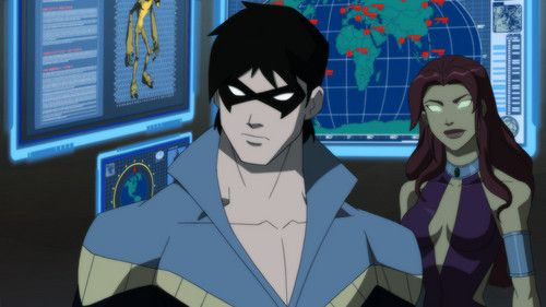 young+justice+raven | Young Justice Nightwing and Starfire