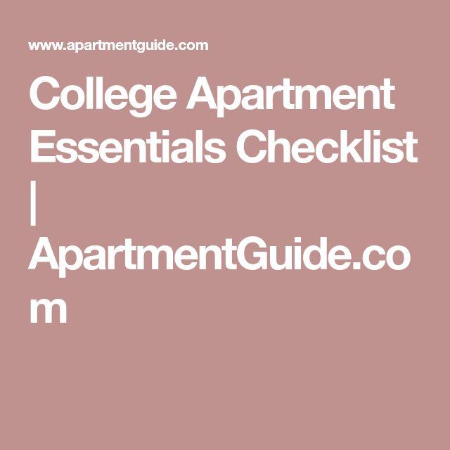 College Apartment Essentials Checklist | ApartmentGuide.com