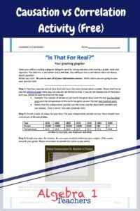 This Free Causation vs Correlation Activity is perfect for students in Algebra…