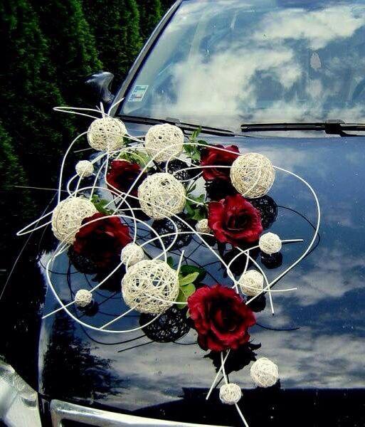 Arreglo de carro de bodas